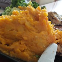 Served with Green Veg and Sweet Potato & Plantain Mash