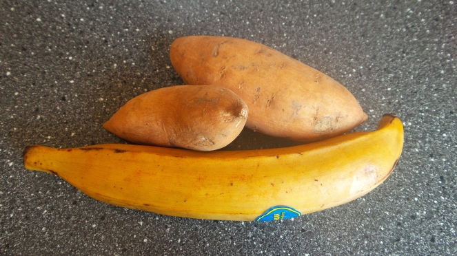 Plantain and Sweet Potato